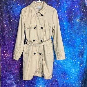 H&M- Light Brown Trench Coat size 14
